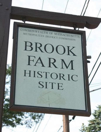 Brook Farm Historic Site signage